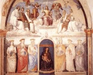Троица и шесть святых — Пьетро Перуджино