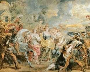 Truce between Romans and Sabinians — Питер Пауль Рубенс