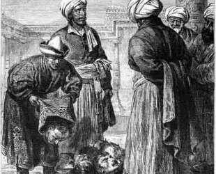 Turkmens representing war trophies to Khiva khan — Василий Верещагин
