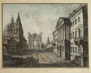 Tverskaya Street and Triumphal Arch in the Strastnaya Square — Фёдор Алексеев