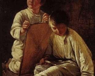 Two Peasant Boy with a kite — Алексей Венецианов