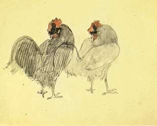 Two roosters — Пабло Пикассо