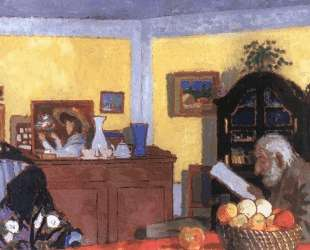 Uncle Piacsek in front of the Black Sideboard — Йожеф Рипль-Ронаи