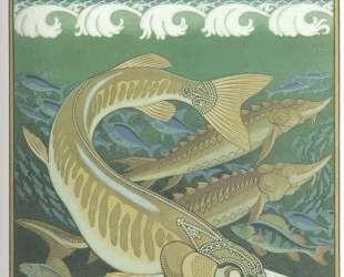 Подводное царство. Иллюстрация к былине 'Вольга' — Иван Билибин