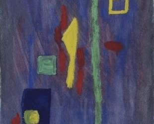 Untitled (Red, Yellow and Green Forms on a Purple Ground) — Барнетт Ньюмен
