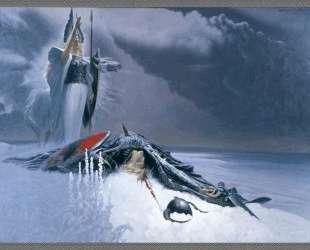 Valkyrie above dead warrior — Константин Васильев