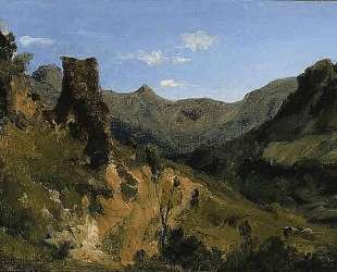 Valley in the Auvergne Mountains — Теодор Руссо
