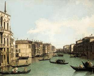 Venice: The Grand Canal, Looking North East from Palazzo Balbi to the Rialto Bridge — Каналетто