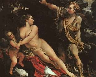 Venus, Adonis, and Cupid — Аннибале Карраччи