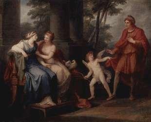 Venus convinces Helen to hear Paris — Ангелика Кауфман