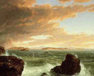View Across Frenchman`s Bay from Mount Desert Island, After a Squall — Томас Коул