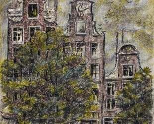 View from Hotel Window, Prinsenstraat Amsterdam, Holland — Айвен Олбрайт