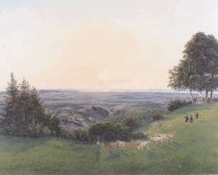 View from the chapel Rosalie — Рудольф фон Альт