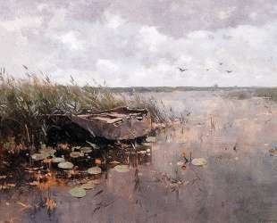 View Of A Puddle And A Boat — Корнелис Вреденбург
