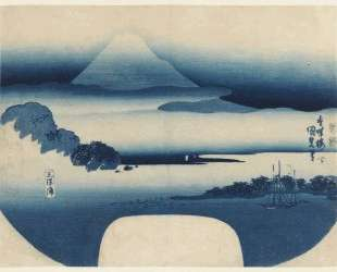 View of Fuji from Miho Bay, May — Утагава Кунисада