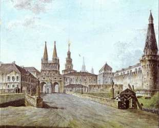 View of Moscow Near the Iversky Gate of the Kremlin — Фёдор Алексеев
