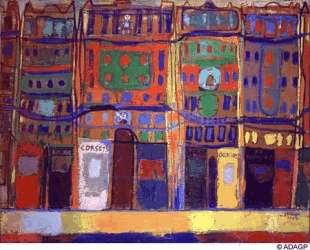 View of Paris, small business — Жан Дюбюффе