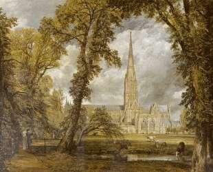 Вид на собор в Солсбери из епископского сада — Джон Констебл