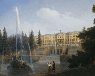 Вид на Большой каскад в Петергофе — Иван Айвазовский