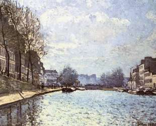 View of the Canal Saint Martin — Альфред Сислей
