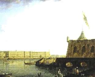 View of the Fortress of St. Peter and Paul and the Palace Embankmant — Фёдор Алексеев