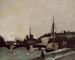 View of the Ile Saint Louis from the Quai Henri IV Study — Анри Руссо