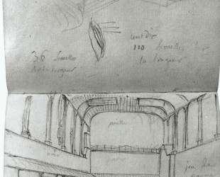 Вид интерьера Зала для игры в мяч — Жак Луи Давид