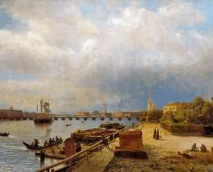 View of the Neva and Peter and Paul Fortress — Лев Лагорио