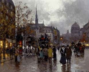 View of the Street Rivoli and Notre Dame — Эдуард Кортес