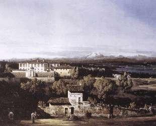 View of the Villa Cagnola at Gazzada neVarese — Бернардо Беллотто