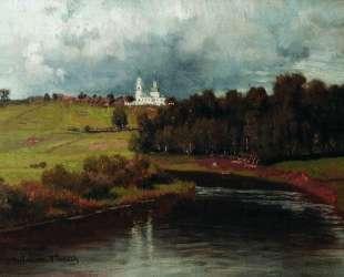 Вид села Варварина — Илья Репин