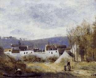 Деревня у подножья холма, Иль-де-Франс — Камиль Коро