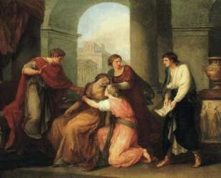 Virgil Reading the Aeneid to Augustus and Octavia — Ангелика Кауфман
