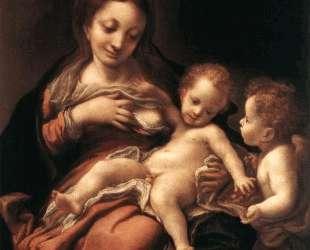 Богородица с младенцем и ангел — Корреджо