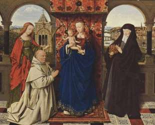 Мадонна с младенцем, святыеи донатор — Ян ван Эйк