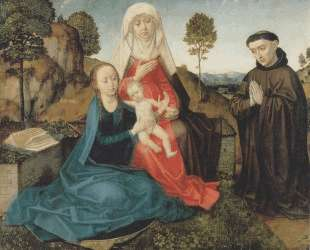 Virgin and Child With St. Anne and a Franciscan donor — Хуго ван дер Гус