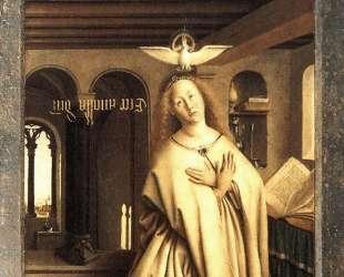 Благовещение (Внешняя сторона правой панели Гентского алтаря) — Ян ван Эйк