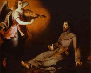 Vision to St. Francis — Бартоломе Эстебан Мурильо