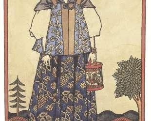 Вологодская девушка в праздничном наряде — Иван Билибин