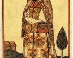 Вологодская молодуха в праздничном наряде — Иван Билибин
