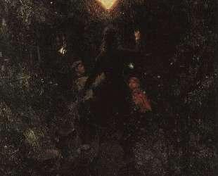 Прогулка с фонарями — Илья Репин