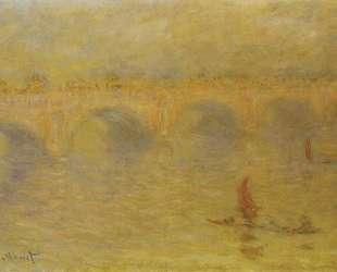 Мост Ватерлоо, эффект солнечного света — Клод Моне