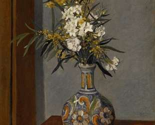 White flowers in a vase decorated — Феликс Валлотон