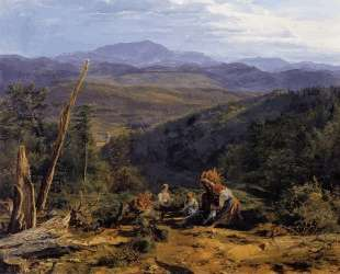 Wienerwald landscape with Wildegg castle — Фердинанд Георг Вальдмюллер