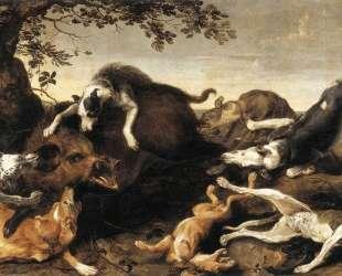 Wild Boar Hunt — Франс Снейдерс