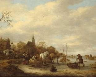 Winter Landscape — Исаак ван Остаде