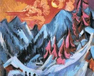 Winter Landscape in Moonlight — Эрнст Людвиг Кирхнер