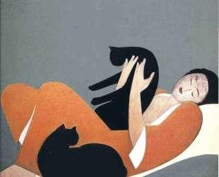 Woman and Cats — Уилл Барнет
