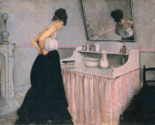 Woman at a Dressing Table — Гюстав Кайботт