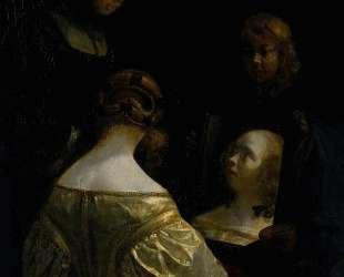 Woman at a Mirror — Герард Терборх